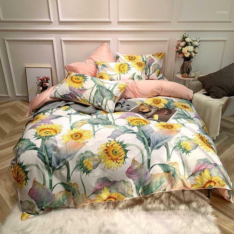 Luxury Egyptian Cotton Bedlinen Bedding Set Duvet Cover Bed Sheet/fitted Sheet Pillow Quilt Twin/Queen/king Size1 Sets