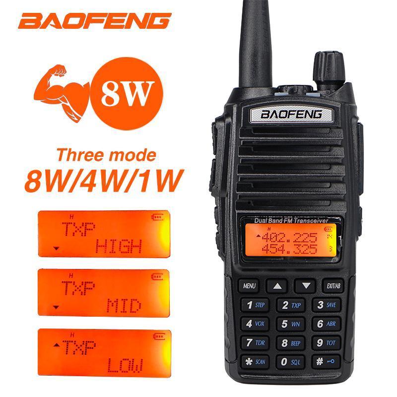 Walkie Talkie Baofeng UV-82 듀얼 밴드 VHF UHF 양방향 무선 UV82 모바일 자동차 라디오 용 햄 스테이션 안테나 사냥