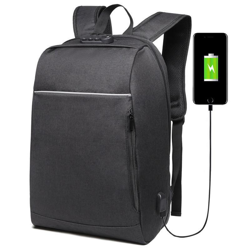 Marca 15.6 pulgadas Puerto portátil Mochila USB Cargando antirrobo Hombres Bolsas para la escuela para adolescentes College Viajes Mochila Mochila Mochila