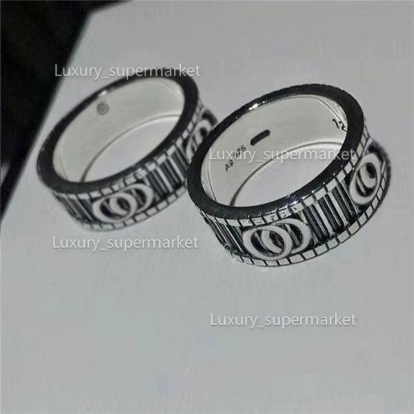 2020 gioielli uomini / donne moda anello di lusso in oro coppia anello s925 scatola regalo ad anello lucido A2