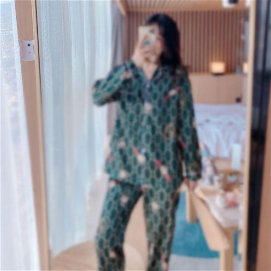 Peach fraîche Sweet Sleep Heightwear Femmes Pyjamas Ensembles de printemps Japonais 100% coton à manches longues à manches longues femmes pyjamas Homewear 201012 # 8281111