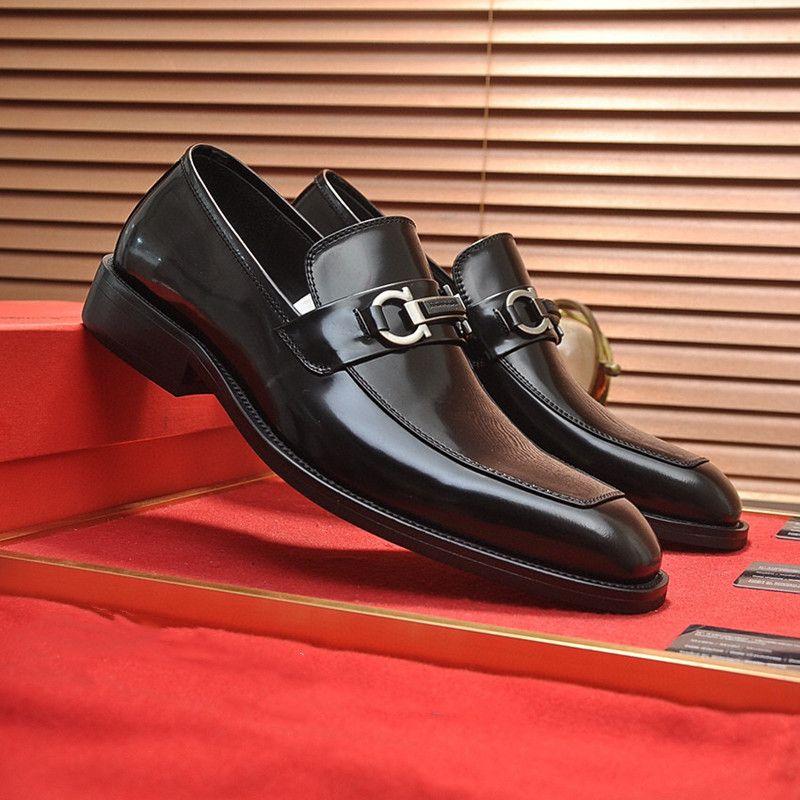 IDUZI Высокое Качество Формальное Платье Обувь для Нежных Дизайнеров Мужчины Черные Натуральные Кожаные Обувь Наступил Новый Мужской Бизнес Оксфорды Повседневная Обувь