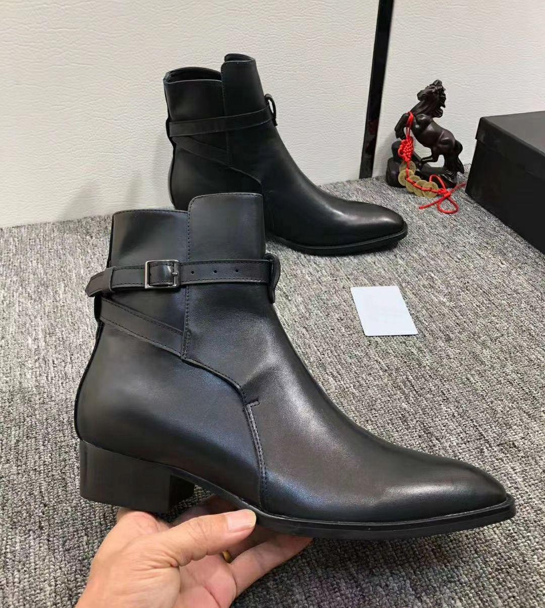 حار أحدث سوبر ستار الرجال جلد حقيقي الغربية رعاة البقر الأحذية عارضة الرجال الأحذية الخريف منتصف العجل دراجة نارية أحذية أحذية الرجال بوتاس