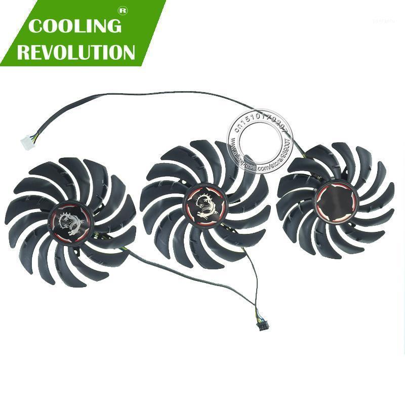 Fans & Coolings PLD09210B12HH PLD10010B12HH RTX2080 RTX2080Ti DC12V For MSI RTX 2070 2080 SUPER 2080Ti GAMING X TRIO Graphics Video Card Fan