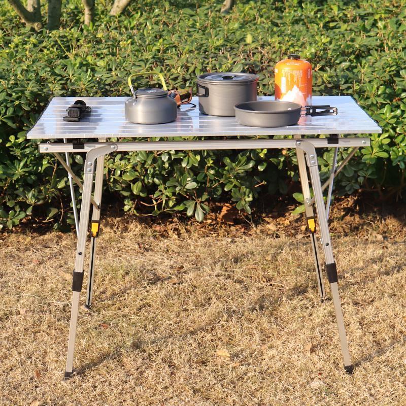 Pliegue en la mesa de la mitad cuadrada, mesa de plástico portátil para la cocina o el evento de la boda del partido al aire libre, granito blanco