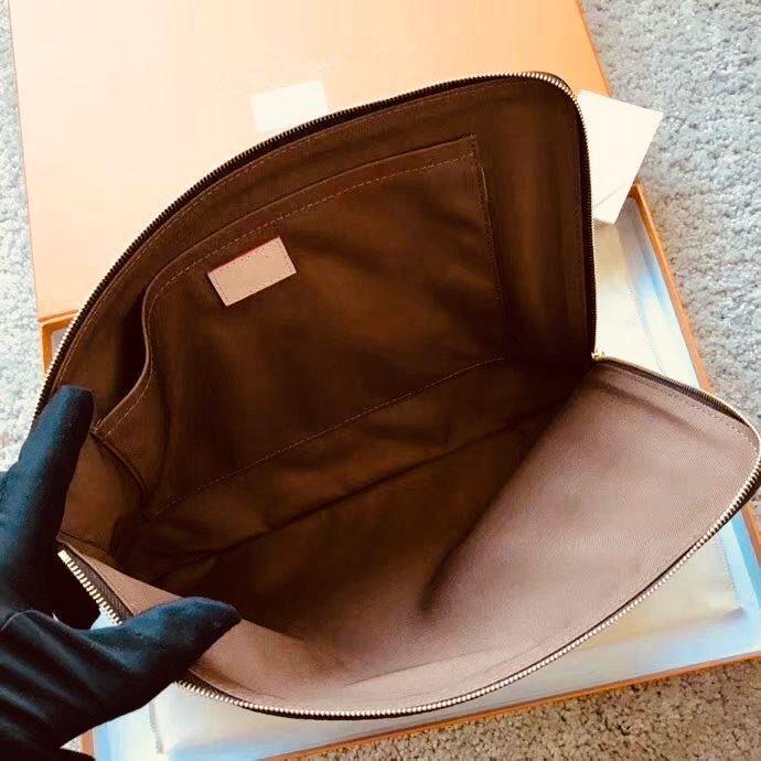 M44500 Edui Voyage PM MM M44499 Designer De Moda Embreagem de Viagem Manga Laptop Tablet Titular Documento Caso Capa Bolsa de Capa Capacidade Acessórios