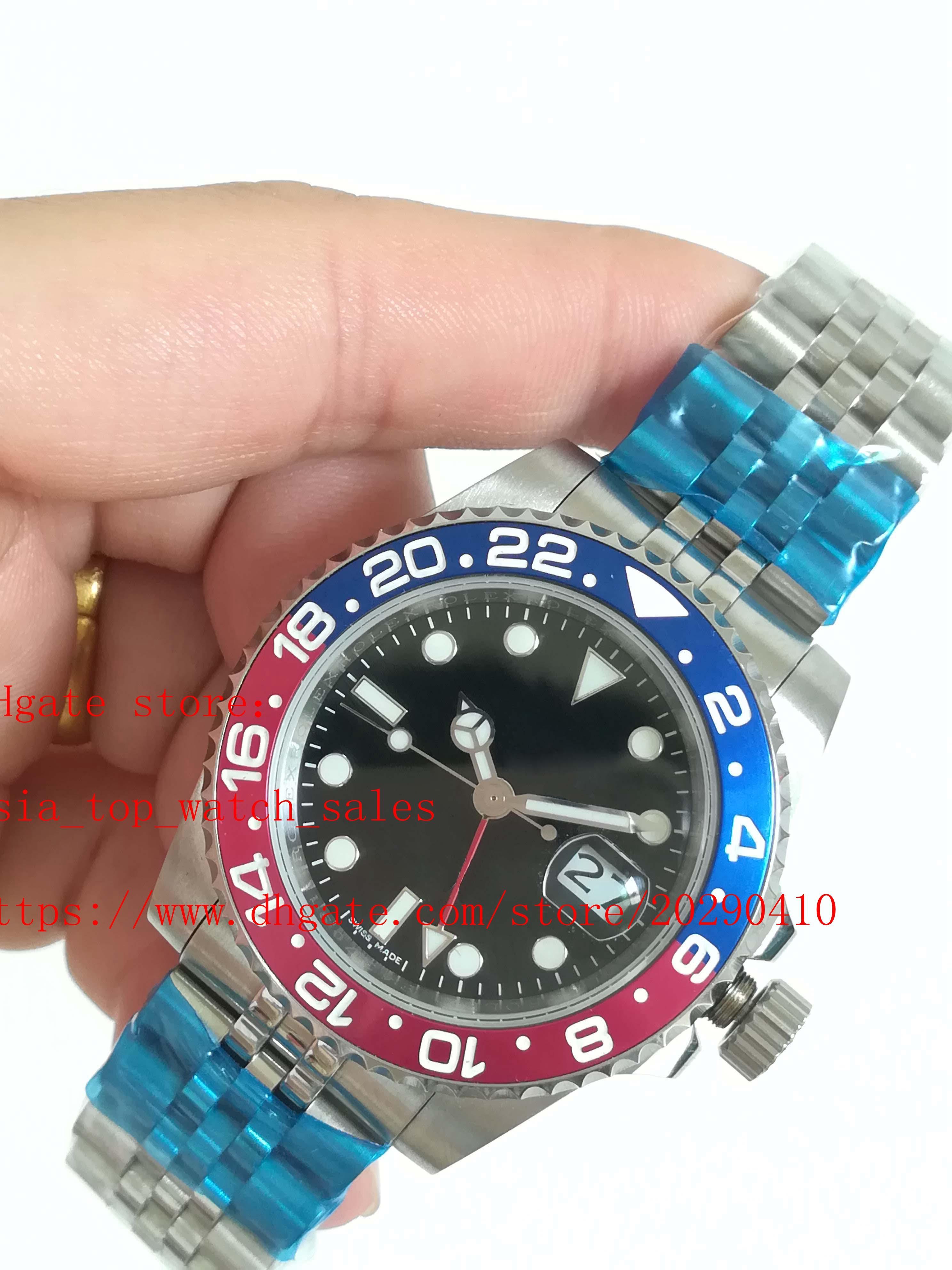 Topselling 5 Стили Высокое Качество Юбилейный Браслет Часы 40 мм GMT 126710BLRO Авто ASIA 2813 Движение Автоматическая Бизнес Мужская одежда Часов