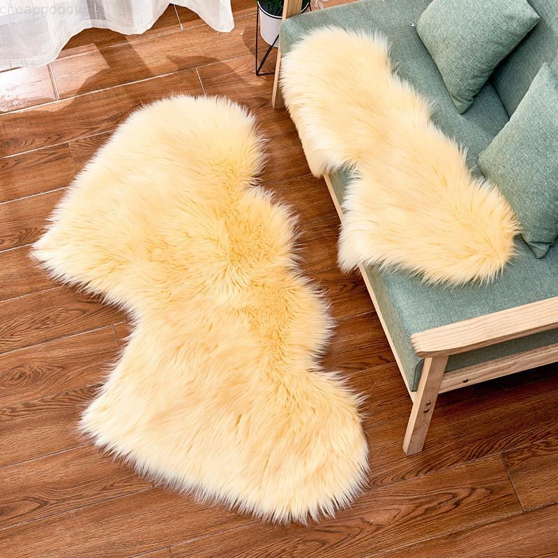 Imitation Wolle Teppich Plüsch Wohnzimmer Schlafzimmer Doppel Herzförmige Pelzdecke Waschbare Sitzpad Flauschige Teppiche 35 * 70 cm 60 * 120 cm 90 * 180 cm