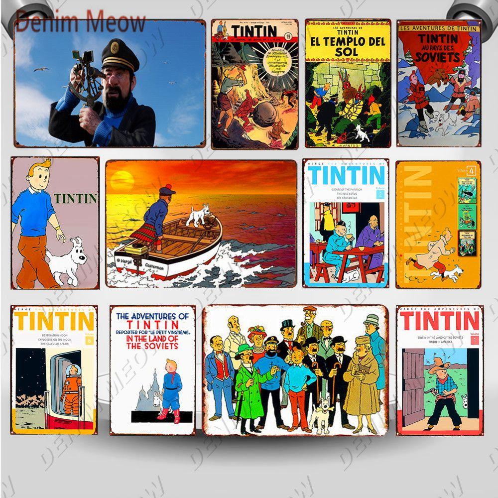 2021 drôle les aventures de dessin animé cinéma signer la plaque métal vintage affiche mural art peinture autocollants comme enfants cadeau home décor mural