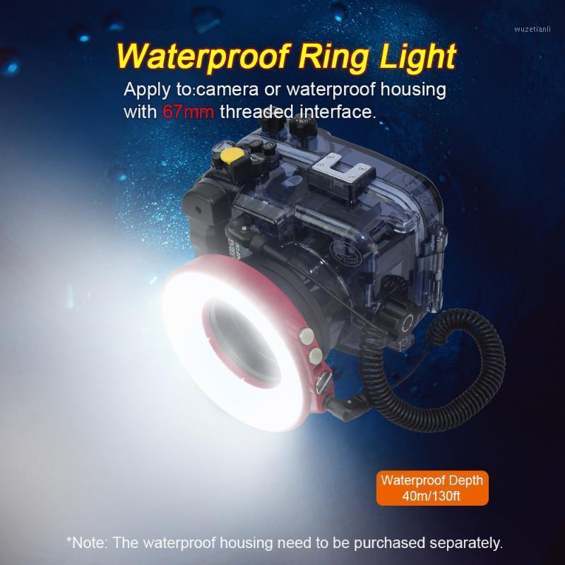 67mm étanche de plongée sous-marine de la plongée sous-marine Bague éclair de 50 m imperméable pour la caméra ou le boîtier Case1