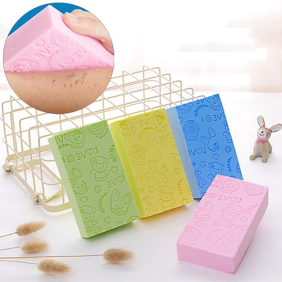 Body Shower Exfoliating Sponge 13*7*3cm Printed Adult Bathing Sponge Bath Artifact Powerful Remove Mud Decontamination Bath