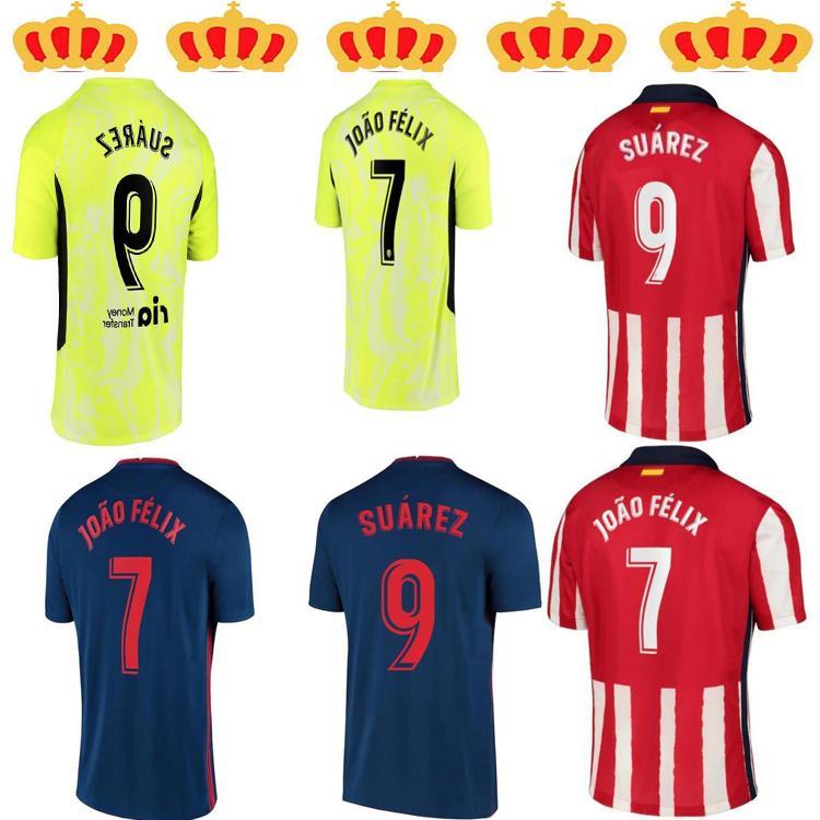 Jogador Versão20 21 Jerseys de futebol de Atletico Joao Felix Camisetas de Fútbol Suarez Correa Jersey 2021Adult