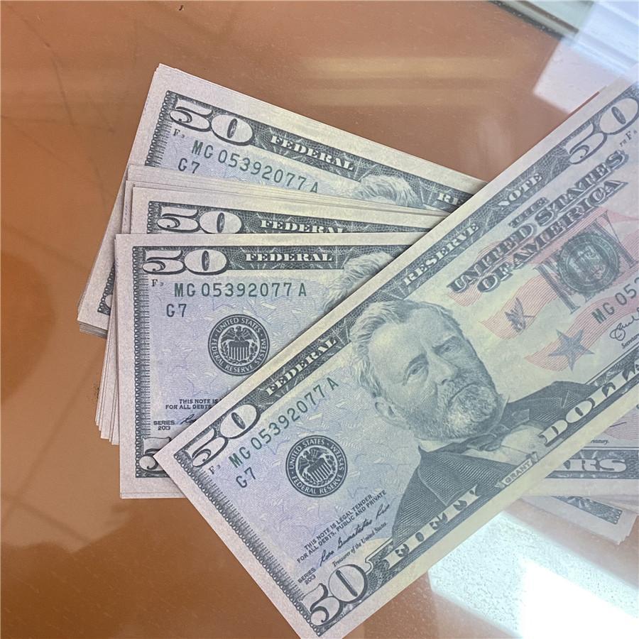 Dollar Dollar Qualité de gros 50-3 bars Bar High Props Morceaux / Forfait Détablissement Durée papier d'argent Livraison GRATUITE DODLF 100 Atmosphère américaine EXSW