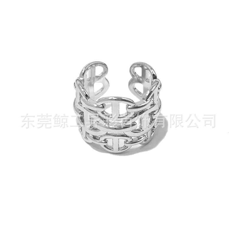 2020 moda criativa simples mens e mulheres cadeia cadeia de grão nariz nariz abrindo anel de tamanho ajustável