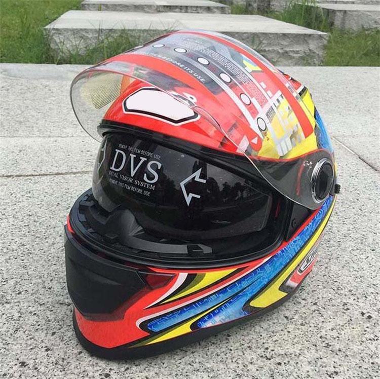 2018 estate casco da moto da uomo e da donna moto corse da corsa a doppia lettura leggera mezza-racing mezzo-cover half-cover full face casco anti-casco