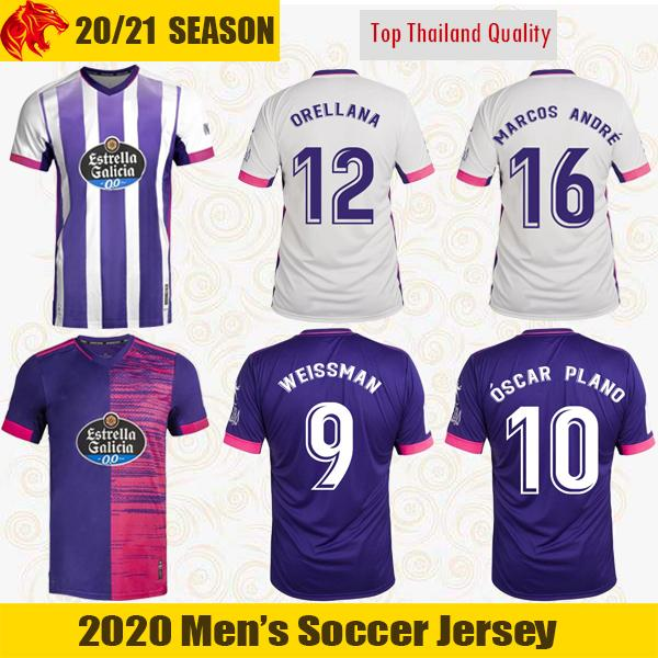 20 21 WEISSMAN Soccer Jerseys 2020 2021 OSCAR PLANO Valladolid ORELLANA Camiseta de fútbol MARCOS ANDRE Jersey