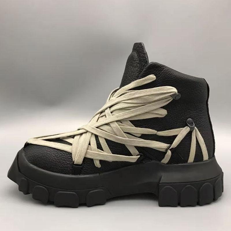 2021 Botas de invierno Hombres Cuero genuino Botas militares Hombre Zapatos de moda Hombre Cuero 30 # 20 / 20D50