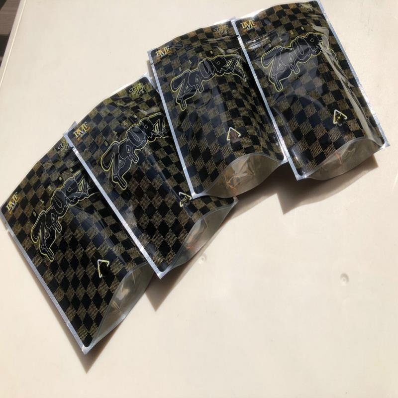 EDIBLES UP UP Vide Mylar Black blagues Emballage BMF 3.5G Zourz Sacs de sacs locaux WMTHS DH_GARDEN