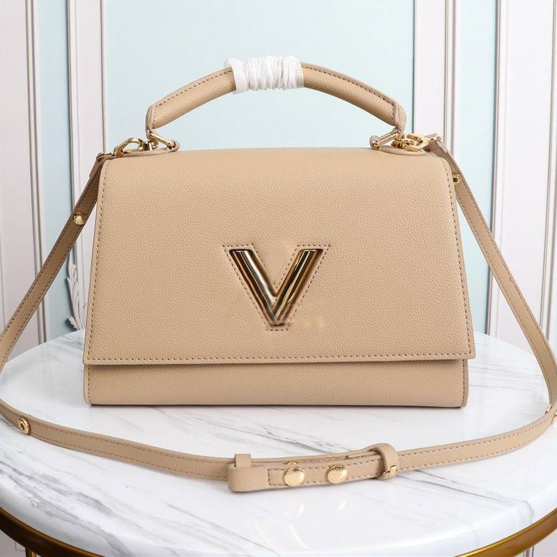Genuine Leather Women's Handbag Purse V lock Flap Bag Adjustable Belt Shoulder Bags Twist One Handle Tote Bag Crossbody Bags High Quality