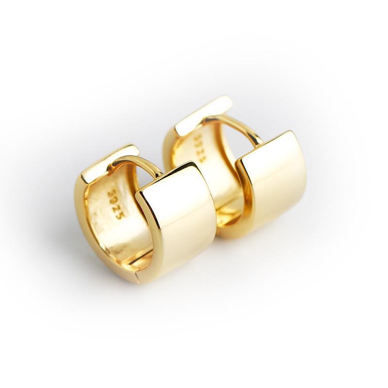 1Pair Piercing 925 Brincos de prata esterlina para mulheres 2020 tendência diâmetro jóias 10.5mm wiidth brincos presentes para ano novo B1204