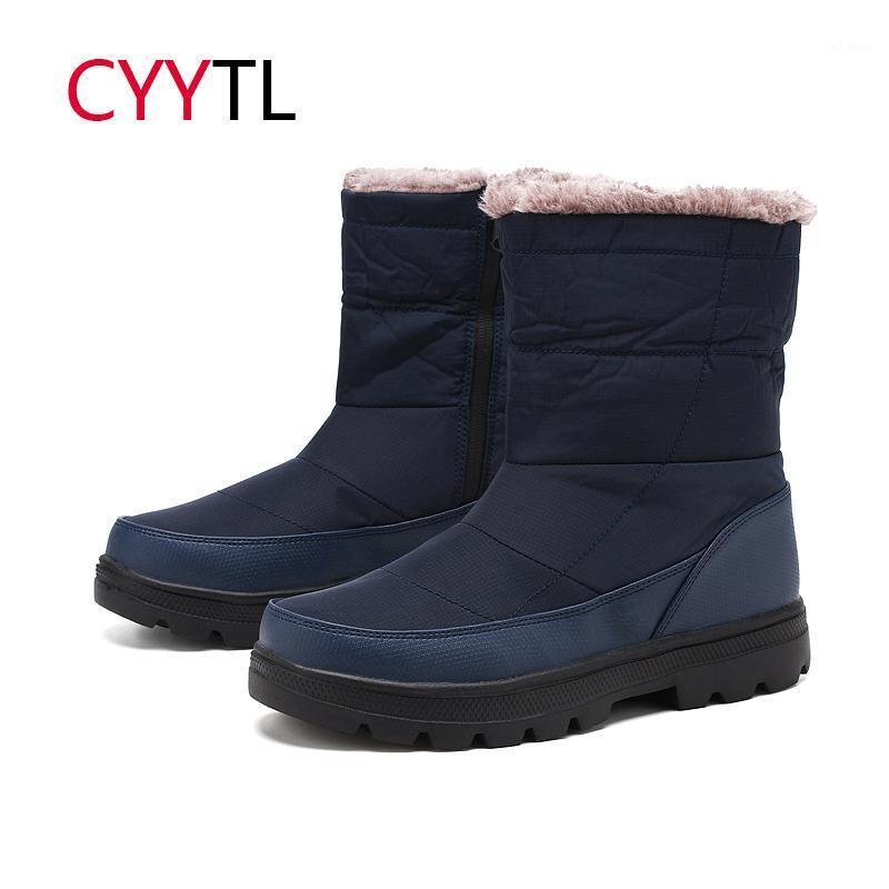 Cyytl Winter Fashion 2020 Pareja Botas de nieve Hombres Piel Zapatillas a prueba de agua Talla grande 36-46 Botas Hombre Hombre Zapatillas de deporte Feminino MAN1