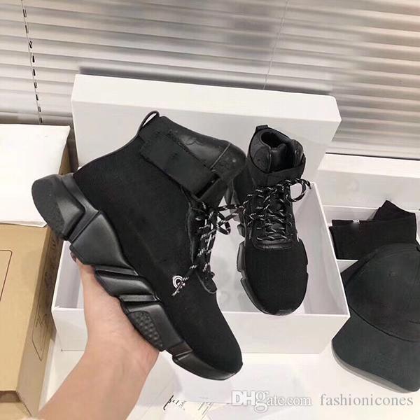 High-end Moda Örme Alfabe Çorap Ayakkabı Sneakers Hız Düz Eğitim Ayakkabı Erkekler ve Kadın Elastik Çizme Çizmeler ORI