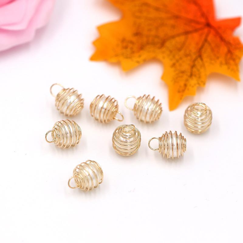 14MM ABS Perline perla di alta qualità 12MM Gioielli fai da te Charm oro incanta gli accessori per il braccialetto e la collana