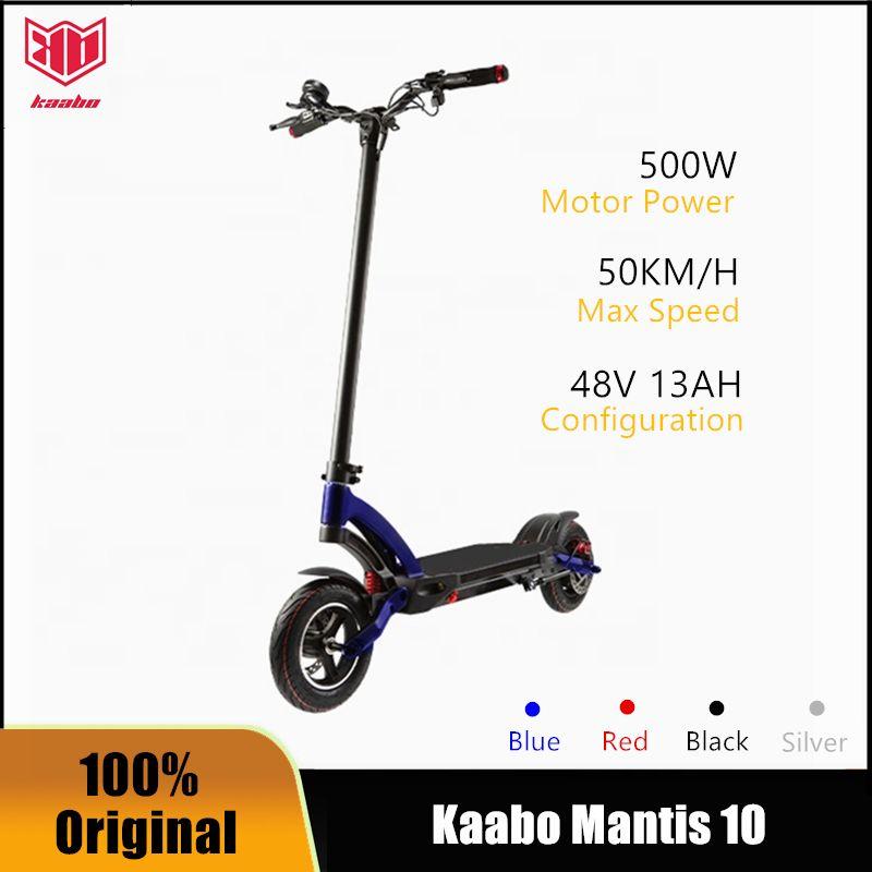"""2020 Kaabo Mantis 10 Kickscooter 48V 500 Watt / 800w Single Motor Smart Electric Roller 10 """"Dual Brake Stoßdämpfer Skateboard"""