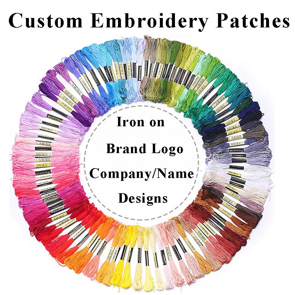 최고 품질 사용자 정의 패치 수 놓은 브랜드 로고 회사 이름 디자인 철분 의류, 모자, 모자, 다운 재킷, 조끼에 대 한 DIY