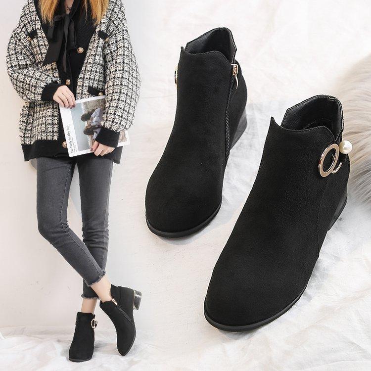 Magical2021 35-44 Oversize Shoes 41 Oversized Short Women's 42 Zipper Children's Thi Heels Wear with Boots