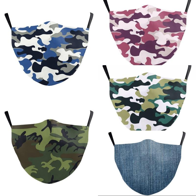 Fashion Face Mask Dust-proof Breathable Washable Reusable Protective Mask Jeans Camouflage Printing Masks For Men Women Free Shipping 213 G2