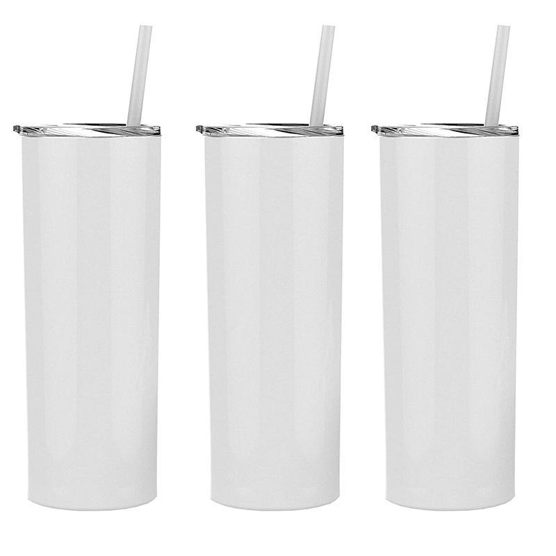 فارغة التسامي نحيل بهلوان الفولاذ المقاوم للصدأ الحليب معزول كأس فراغ كؤوس جدار مزدوج محمول مع غطاء ختم و سترو 20 أوقية