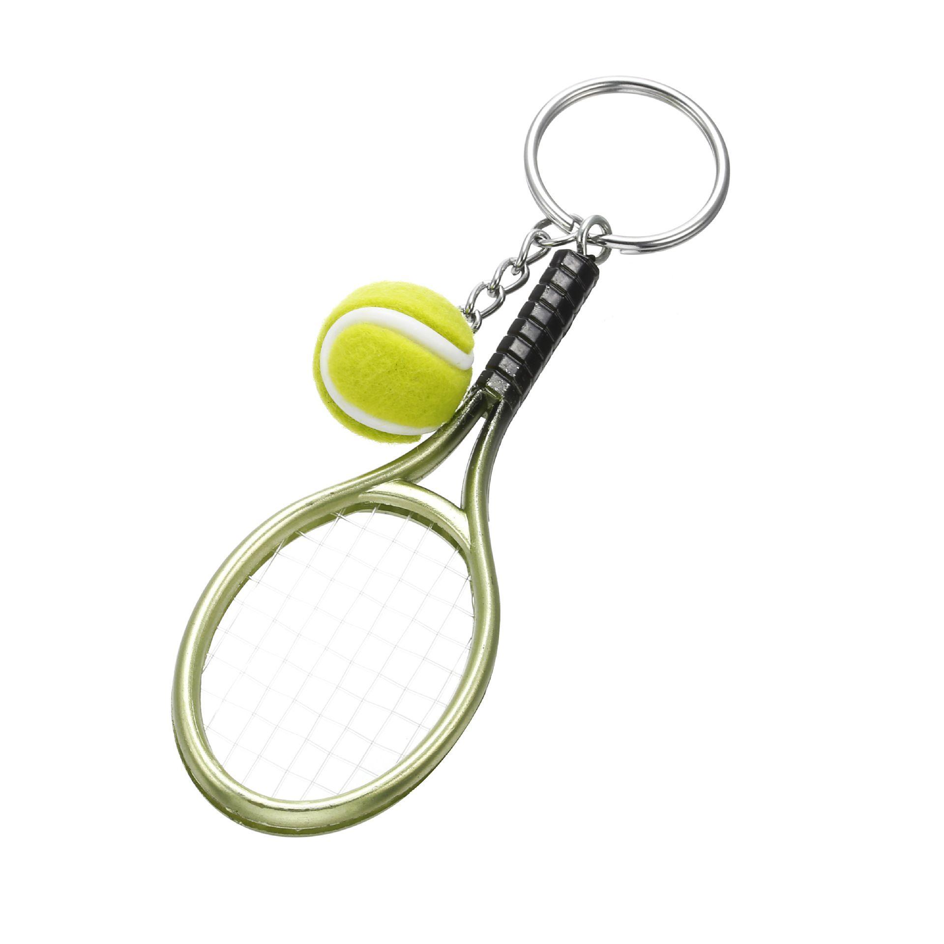 Mode-Accessoires Kreative Tennis Schlüsselanhänger Schlüsselanhänger Anhänger Sportartikel Tennisschläger Schlüsselanhänger Set Fans Souvenirs Geschenke Großhandel