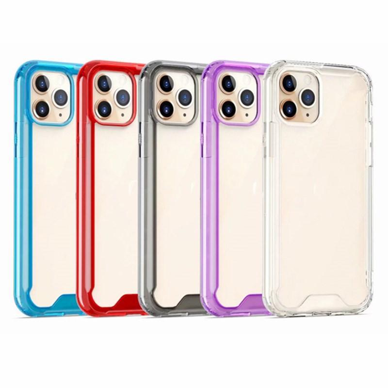 Temizle Telefon Kılıfı Için iphone 11 Pro Max 11Pro XS X XR 7 8 Artı 6 6 S SE Şeffaf Telefon Kılıfı Hibrid Sert Koruyucu Kapak Kılıfları Stokta