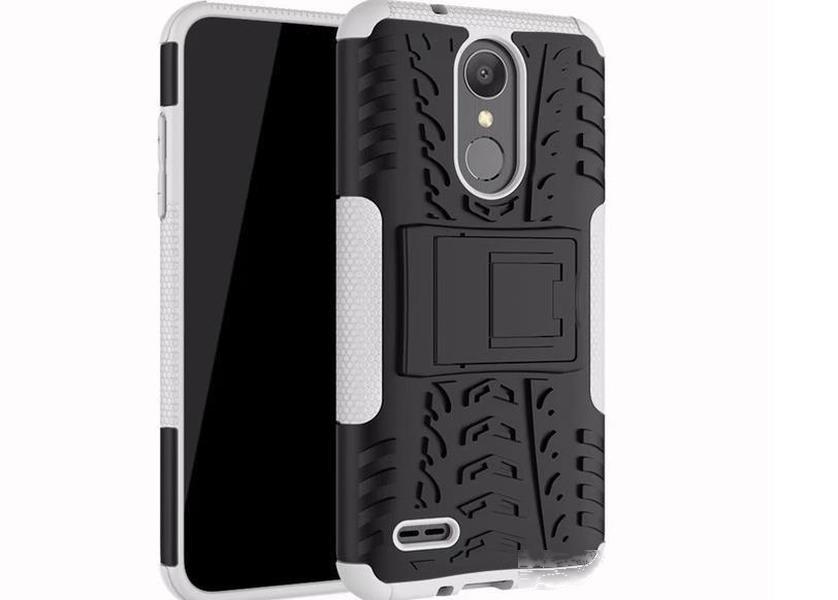 LG Aristo 2 / X210 LG Tribute Bölgesi için 4 DynastHeavy Şok Geçirmez Kabuk Kapak Rugged Hibrid Kılıf LG Zırh K8 2018 2 Içinde 1 Telefon Arka Kapak