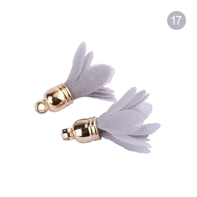30pcs Mini Capuchon en métal Tassels de fleur pour Boho Bijoux Bricolage Craft Fournitures Bracelet Collier Boucle d'oreille Recherche Accessoires H Jlljqi