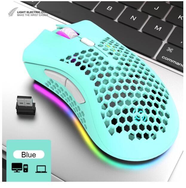 Sessiz Oyun Fare 2.4G Kablosuz 3 Seviyeleri DPI RGB Işık USB Oyunu Optik Sensör PC Gamer Bilgisayar Fare Laptop Oyunları için Fareler 26 adet DHL