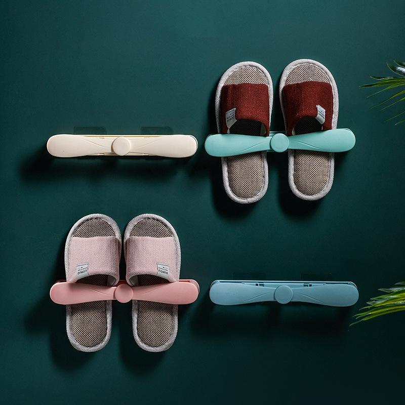 Duvar Ayakkabı Tutucu Organizatör Katlama Ayakkabı Depolama Raf Banyo Organizatör Kullanışlı Yapışkan Ayakkabı Askı Asma Rack Monteli