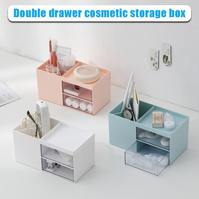 Organizer Storage Cosmetics Schublade Desktop Schmuck Doppel für Fach H9 Box DCCJI
