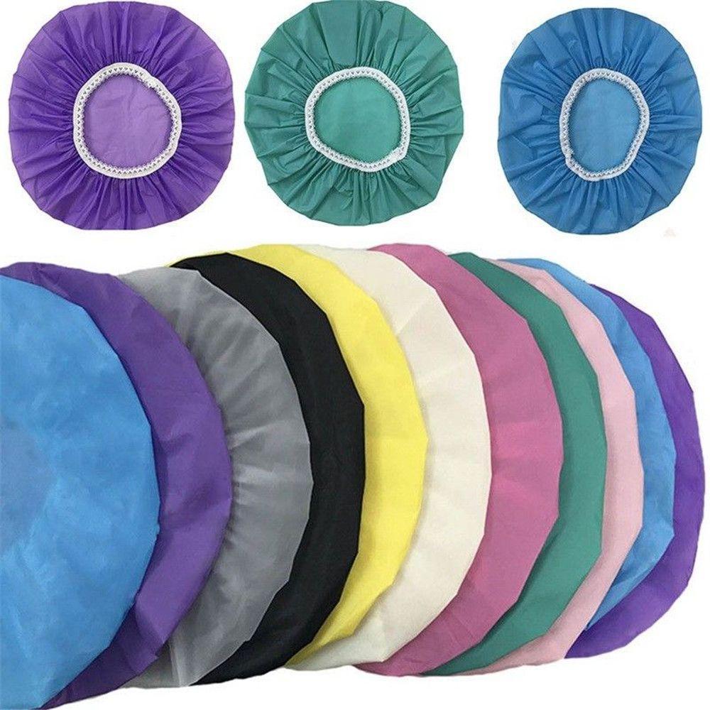 Accueil Tableau de douche étanche Pays de natation Hôtel Elastic Douche Cap Couvercle de cheveux Produits Produits de bain Baignoire S Taille Différentes couleurs chaudes