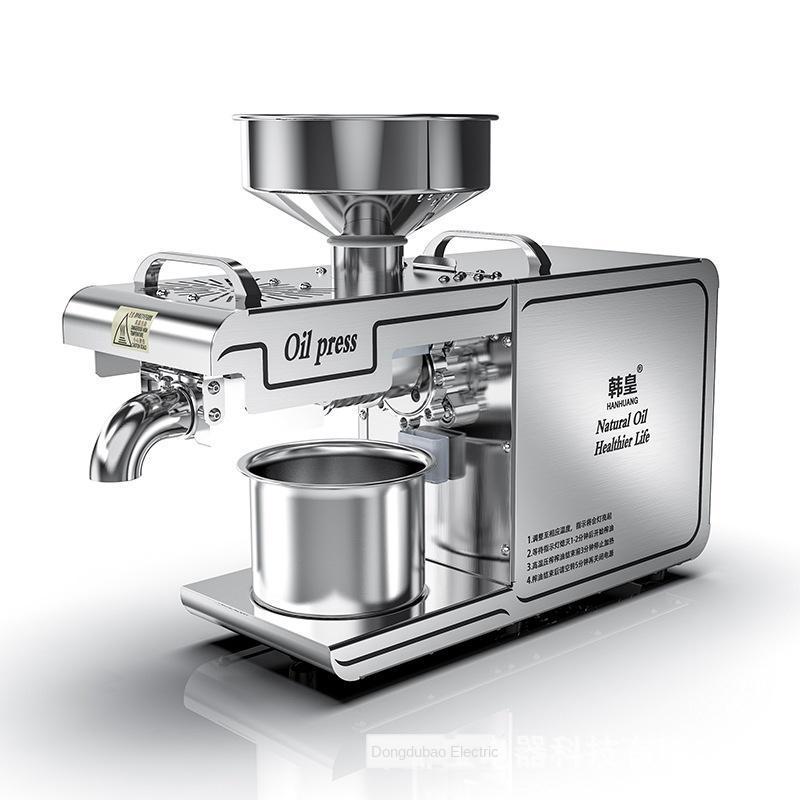 Machine de presse à huile à la maison 220V et froide Pinenut, cacao Soy Hean Olive Huile d'olive Machine d'extraction élevée
