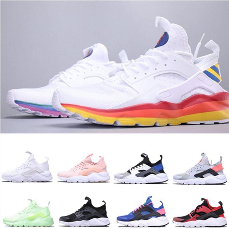 Mais novo Huarache Ultra Esportes Running Shoes para Homens Mulheres Triple White Mens Trainer Classic Designer Sapatilhas Respirável Sock Tênis Tamanho 5-11