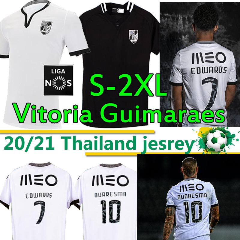 Vitória S.C كرة القدم الفانيلة Vitoria Guimaraes A.andre Edwaros Quaresma Bruno Duarte Vitória De Guimarães كرة القدم قميص موحدة 2020 2021