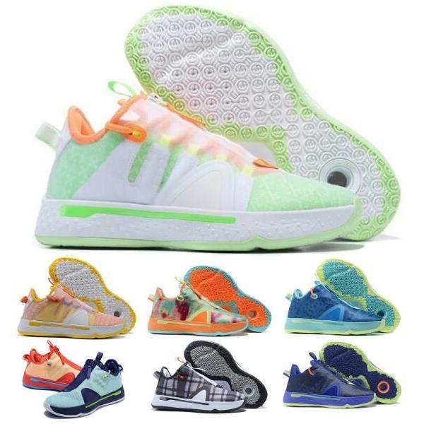 PG Paul George 4 Erkekler Basketbol Ayakkabı Sneakers Gatorade Digi Camo Yeşil Ekose Gamer Özel Narenciye Oreo GX Otantik Tenis Eğitmenler Ayakkabı