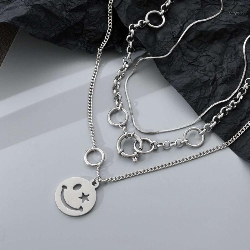 Chagh Chagh Collices para as mulheres Circle Star Star Colares Set feminino de aço inoxidável de aço inoxidável1