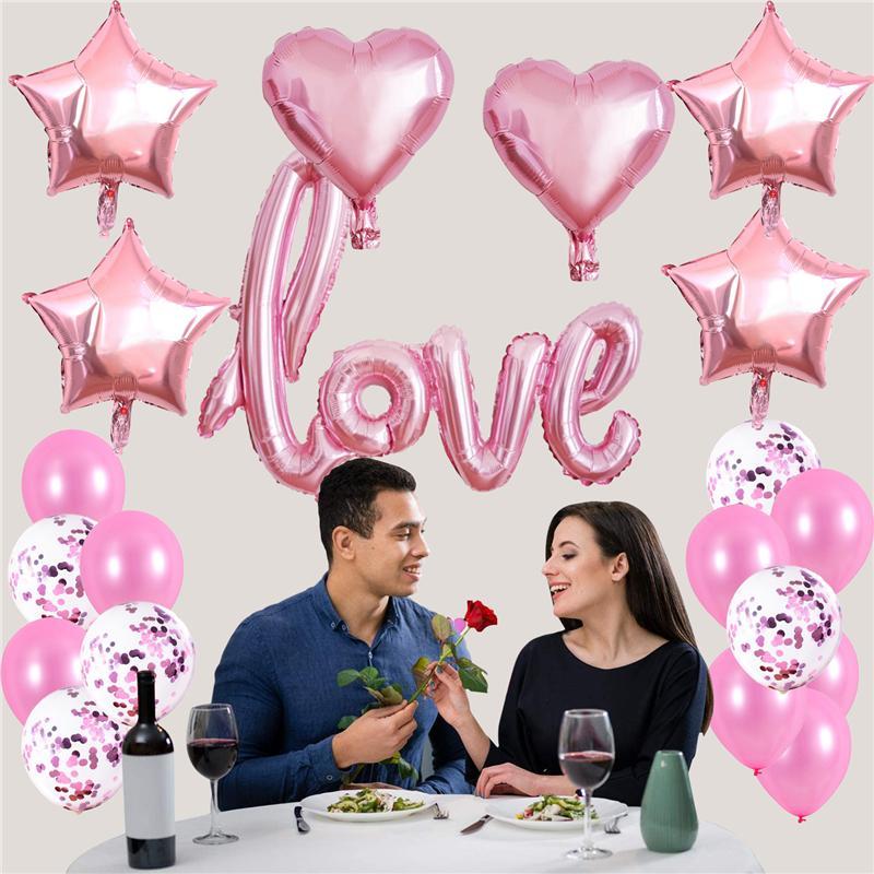 Liebe Ballons Kit Herzförmige Folienballon Valentines Tag Hochzeit, Brautdusche Dekorationen Party Supplies JK2101KD