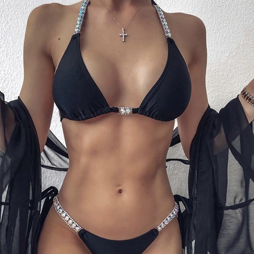 Bikini di thong Bikini di lusso Strappy Strappy Strappy Strappy Bikini