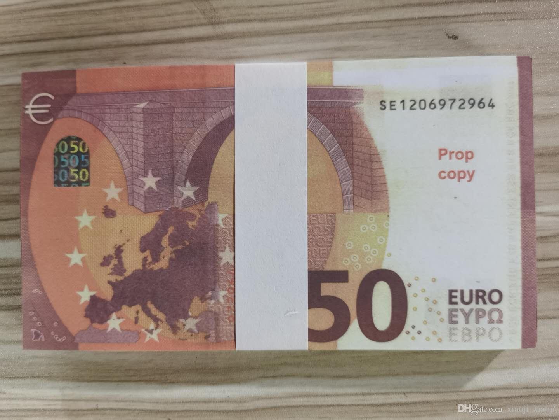 Papiergeld Gefälschte 50Euro Geldgröße Prop Kinder Euro Normal Banknote Geld Film Prop Creative Geschenk Banknote Dollar 04 Lalti