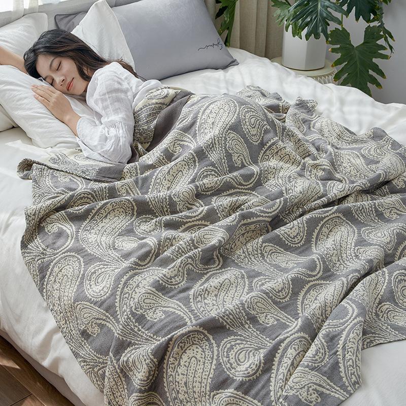 Quilt Estate cotone di bambù di trasporto di goccia per il divano-letto Asciugamano Donne Wrap Quilt Coperta pelo Coperte coperta del tiro per auto Ufficio