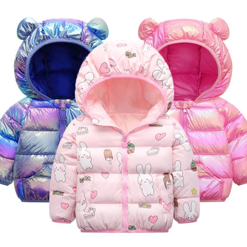 New Children's Chaquetas de invierno niños abrigo caliente lindo caricatura chaqueta de bebé para niñas Parka Outerwear Sudaderas con capucha Boy Abrigo 1 2 3 4 5 años 201127